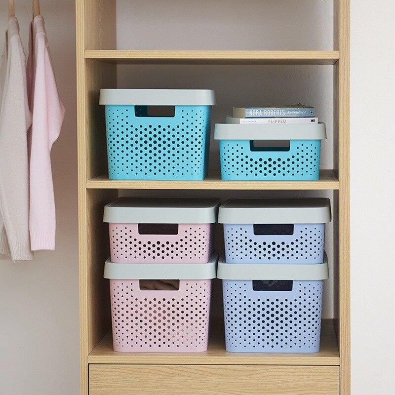 Paille ours panier de rangement boite de rangement quatre pièces ensemble grande taille epais boite de rangement plastique boite cuisine organisateur ménage Produ