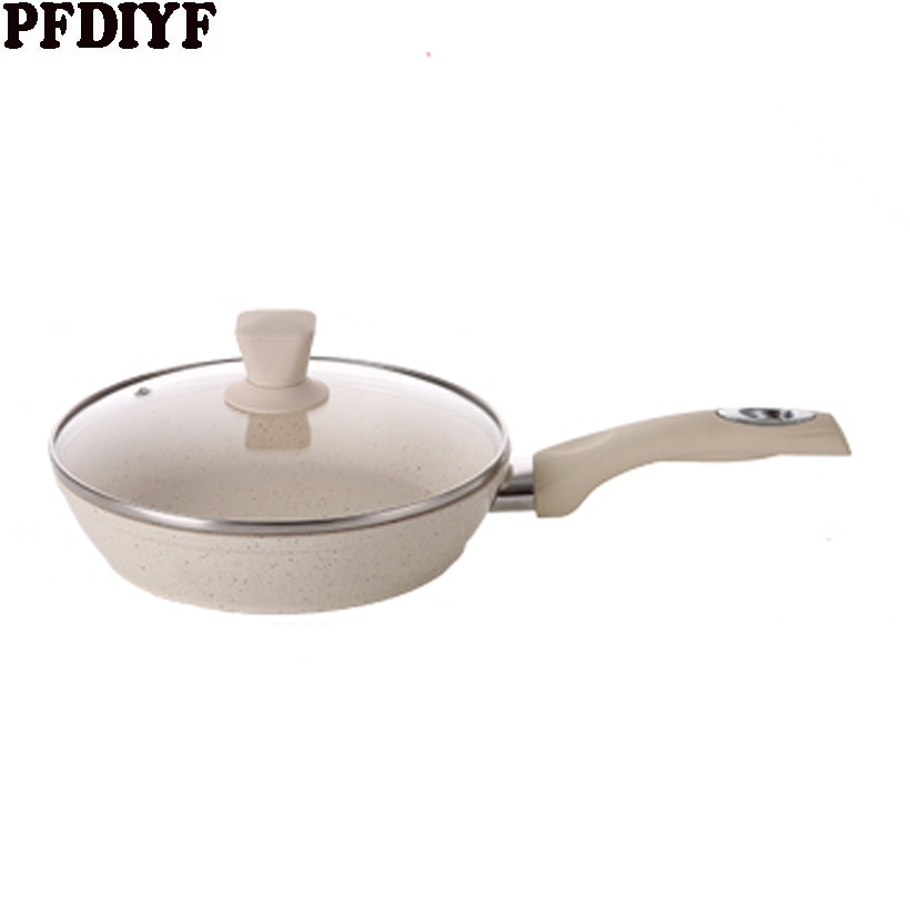 Multifunction Steak frying pan non stick pan smokeless wok pancake pan with without lid Induction cooker gas stove universal in Pans from Home Garden