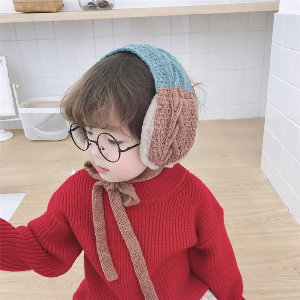 Child Winter Warm Knitted Earmuffs Ear Warmer Fashion Girls Ear Muffs Earlap Casual Earmuffs Plush Ear Muffs