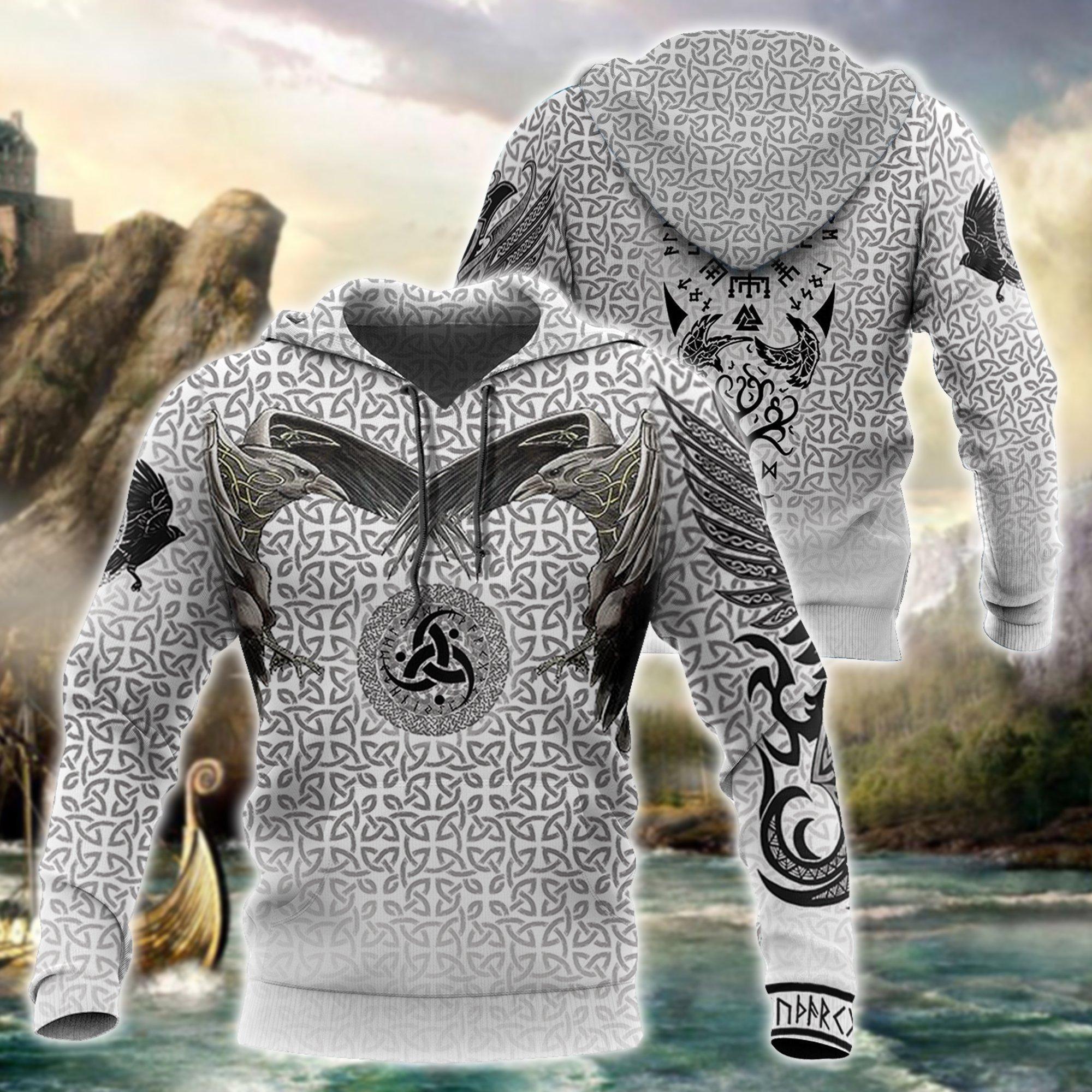 Viking Odin Style Tattoo 3D Printed Hoodie And Sweatshirt Harajuku Fashion Hoodies Unisex Casual Jacket Pullover DW0018