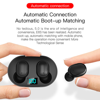 Wireless Earphones E6S TWS Wireless Earbuds In Ear Sports Headset With Mic Bluetooth-compatible5.0 Earphones For Mobile Phone 6