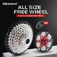 VG sports-piñón libre de aleación de aluminio ultraligero para bicicleta de montaña, 9, 10, 11 y 12 velocidades