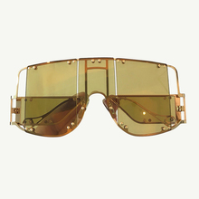 Vintage Retro Shield Visor Sunglasses Men With Oversize Wind