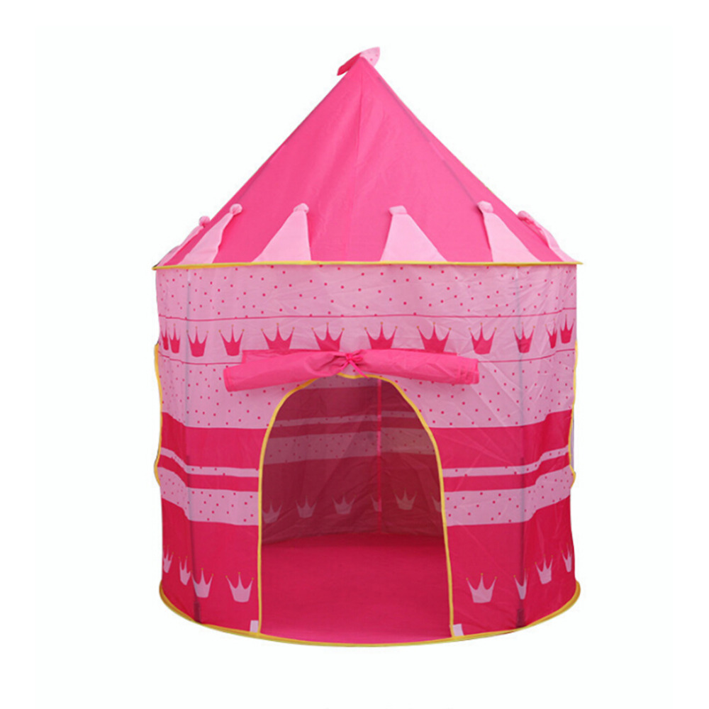 Play Tent Portable Foldable Tipi Prince Folding Tent Children Boy Cubby Play House Kids Gifts Outdoor Toy Tents Castle
