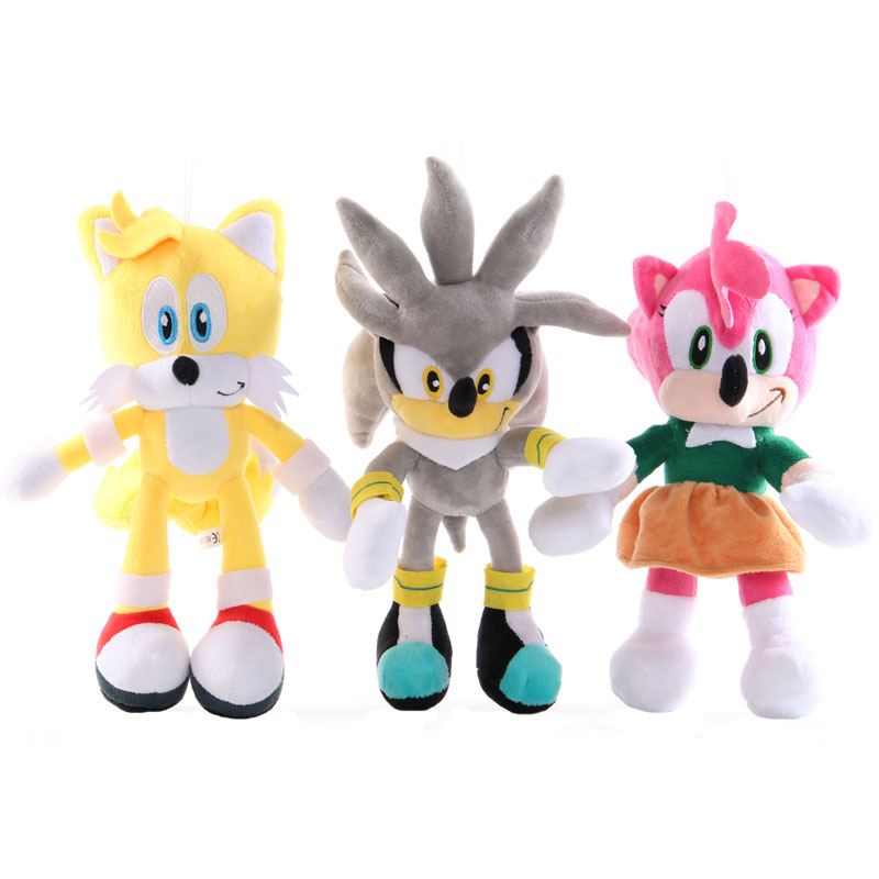 28cm Sonic Peluche Plush Toy Cartoon PP Cotton Sonic Soft Stuffed Plush Doll Toys For Baby Birthday Or Xmas Gifts Free Shipping