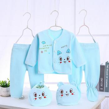 Bekamille niemowlę noworodka zestawy dla niemowląt (5 sztuk zestaw) miękka odzież modna bawełniana chłopięca garnitury tanie i dobre opinie COTTON Moda O-neck Pełna REGULAR Pasuje prawda na wymiar weź swój normalny rozmiar Suknem Płaszcz Cartoon Unisex Dla dzieci