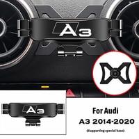 Für Audi A3 S3 8V 2014-2020 Air Outlet Clip Halterungen Stehen GPS Schwerkraft Navigation Halterung Auto Zubehör auto Handy Halter