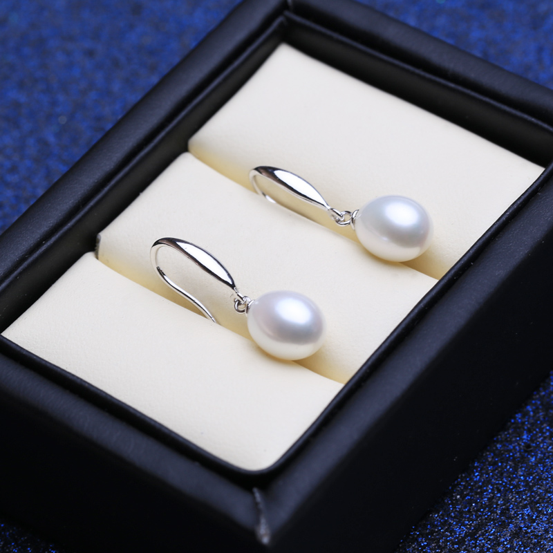 FENASY 925 Sterling Silver Jewelry Sets Natural Freshwater Pearl Drop Earrings Custom Trendy Pendant Chain Necklaces For Women