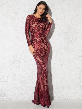 Elegant Vestido Full Sleeved Maxi Dress