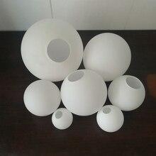 Сферический стеклянный абажур кремовый из белого матового материала круглый односторонний корпус крышка стол подвесной светильник Настенный светильник