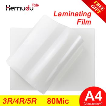 A4 3R 4R 5R folia do laminowania termicznego 80mic PET + EVAfor wizytówka mocny klej Plastifieuse do gorącej maszyna do laminowania tanie i dobre opinie A-SUB Papier fotograficzny