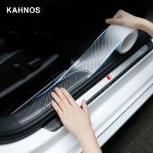 Adesivo do carro protetor tira transparente nano fita de fibra carbono borda da porta auto peitoril tronco guarda anti colisão proteção scuff