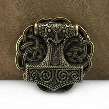 Bucklelub Mjolnir THORSHAMMER викинговый ремень с пряжкой для джинсов подарок музыкальный ремень пряжка FP-03718-1 античная латунь отделка Прямая