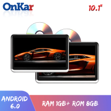 Onkar 10.1 Inch Scherm Android 6.0 Hoofdsteun Monitor Wifi Bluetooth Radio 1080P Hdmi Sd Card Usb Met Dvd-speler beslag Optioneel