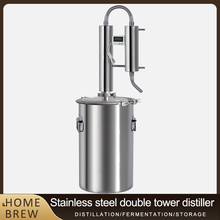 12L Distiller 304 Stainless Steel Double tower cooling coils Family Brewing Brandy Vodka Liquor Equipment Fermentation barrel