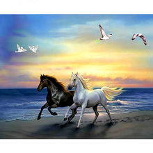 Diamond Painting Full round/square animal horse Mosaic DIY Diamond Painting horse Cross Stitch Embroidery Home Decorative M207(China)