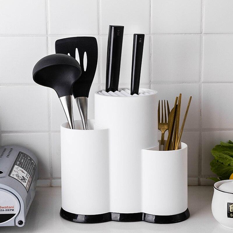 Многофункциональный держатель кухонной утвари, блок ножей, силиконовый инструмент для приготовления пищи, столовые приборы, органайзер, сушилка, аксессуары, стойка для хранения ложки