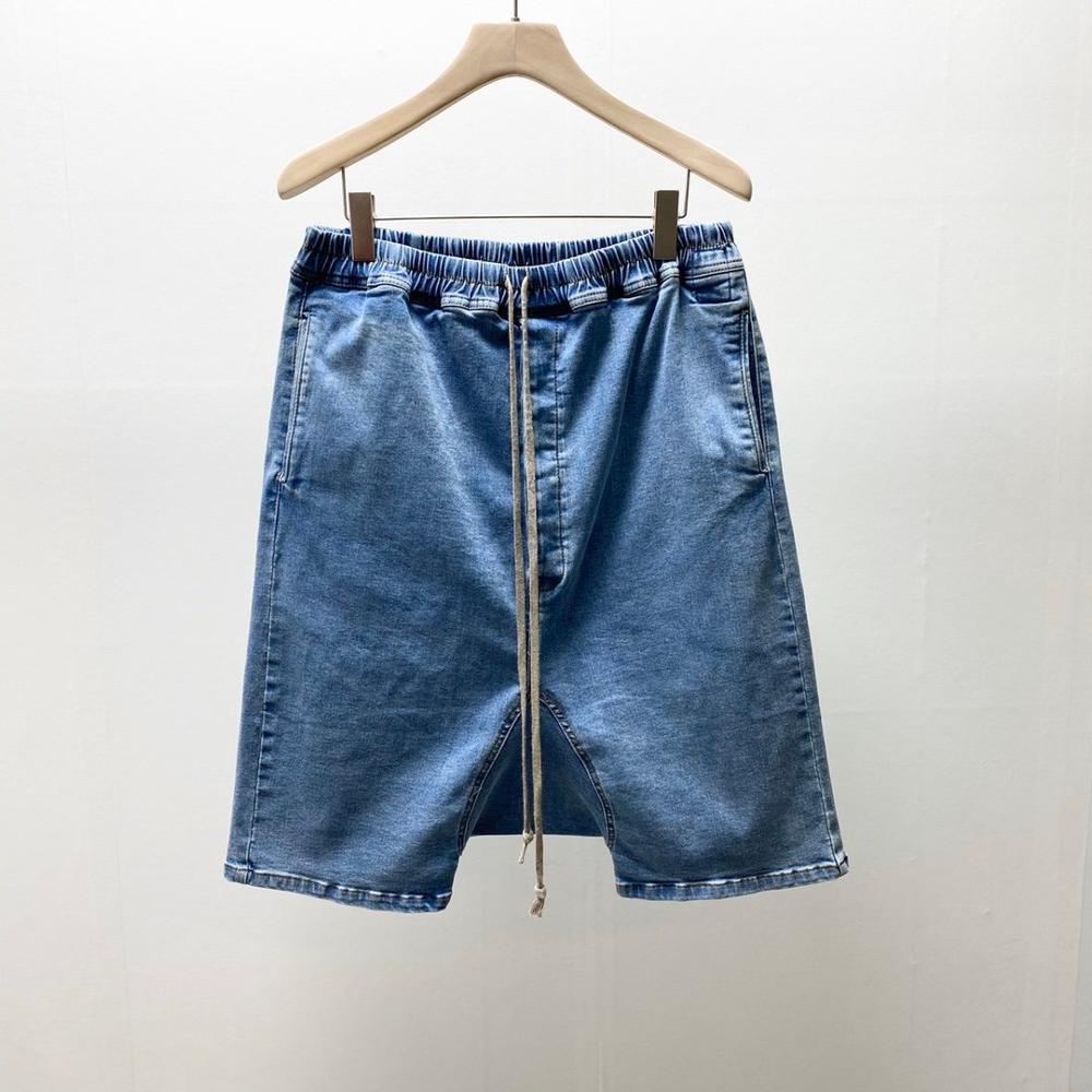 20ss Owen Seak Men Casual Short Washed Denim Cotton Gothic Men's Clothing Harem Summer High Street Hip Hop Women Shorts Size XL