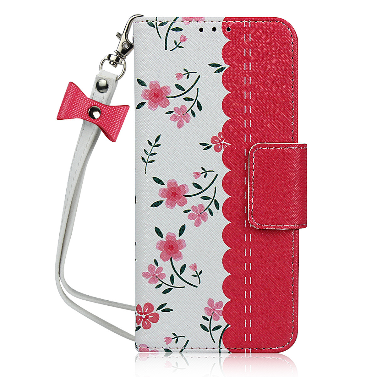 Leather Wallet Phone Case for <font><b>Samsung</b></font> Galaxy S10 S9 S8 Note10 <font><b>A50</b></font> Flower <font><b>Flip</b></font> <font><b>Cover</b></font> popsocket for mobile phones image