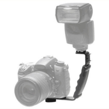 Photography Video Flash Camera Grip L Bracket Holder With 2
