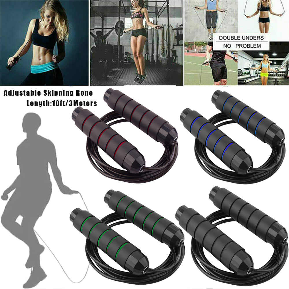 ❤Tangle-Free with Ball Bearings Rapid Speed Jump Rope Crossfit Excercise Fitness