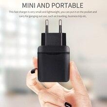 Штепсельный адаптер стандарта США и ЕС для Iphone, Android, портативное зарядное устройство с двумя usb-портами 3,0, 36 Вт, быстрое настенное зарядное устройство, usb зарядка, зарядное устройство для мобильного телефона