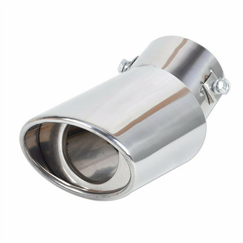 1pc new Car Round Stainless Steel Chrome Exhaust Tail Muffler Silver Tip Pipe car Accessories 140mm
