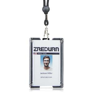 Image 1 - zayex Badge Holder Wallet Durable ID Card Holder with Lanyard  Clip for Offices, School,Driver Licence, Holds 1 4 Cards