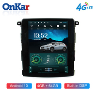 ONKAR Car Tesla Radio For Subaru XV Forester 2018 Android 10 tesla style gps navigation WIfi Bluetooth 5.0 4GB+64GB 4G SIM Port
