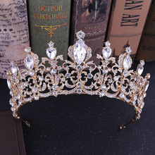 Wedding Tiara Bride Crown Princess Headband Diadem for Girls Decoration Ornaments Hair Jewelry Bridal Hair Accessories red crystal wedding crown queen tiara bride crown headband bridal accessories diadem mariage hair jewelry ornaments