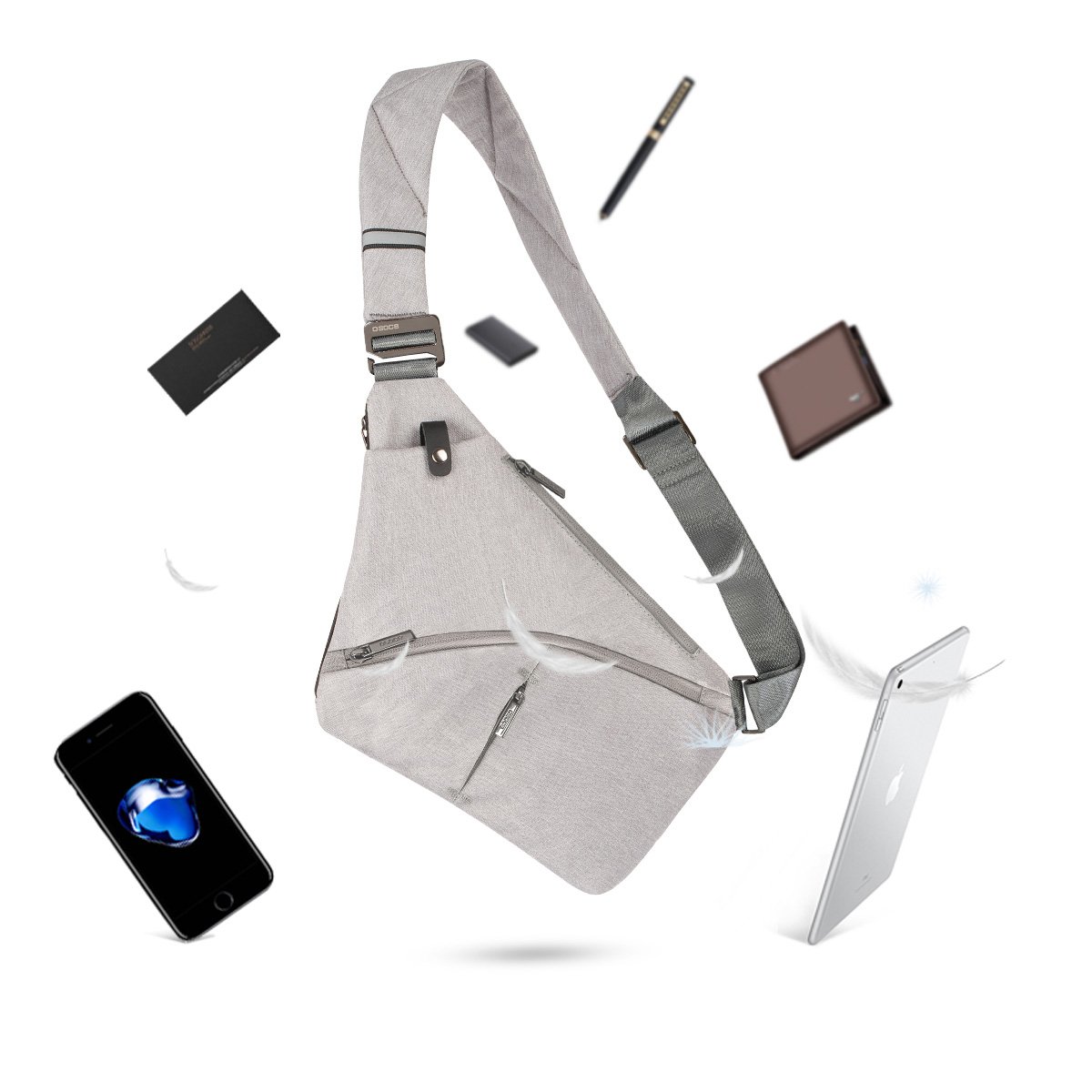Anti-Theft Crossbody Bag Shoulder Bag Sling Chest bag Waterproof Cover Pack Rucksack Bicycle Sport 8