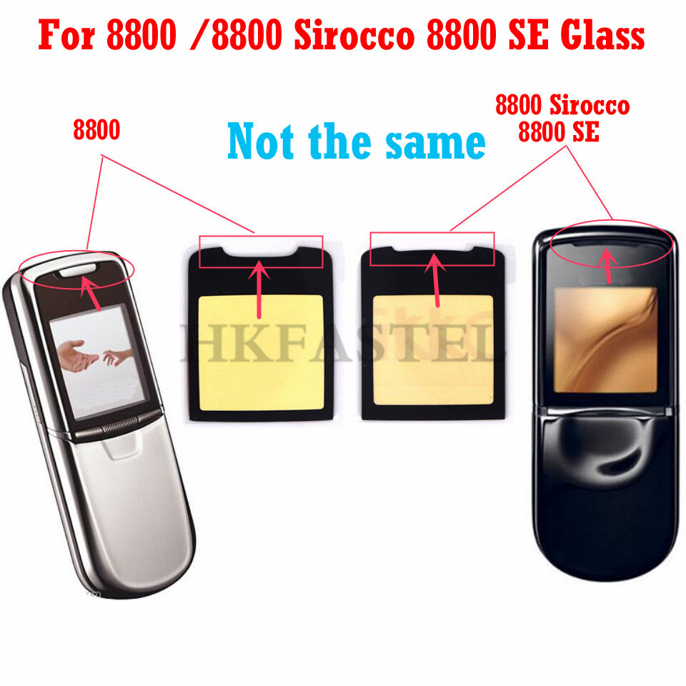 HKFASTEL high quality LCD Mirror For <font><b>Nokia</b></font> <font><b>8800</b></font> / 8800SE <font><b>8800</b></font> SE <font><b>8800</b></font> Sirocco Mirror Display Screen Lens Protective Glass + Glue image