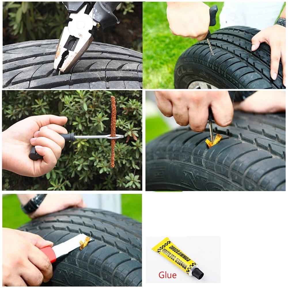 Купить с кэшбэком Car Tire Repair Kit  tyre repair kit car tubeless tire repair kit bike Motorcycle Battery puncture tire tool set