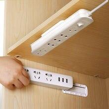 Home Self-Adhesive Socket Fixer Wall-Mounted Sticker Punch-free Plug Fixer Seamless Power Strip Holder Socket Storage Rack