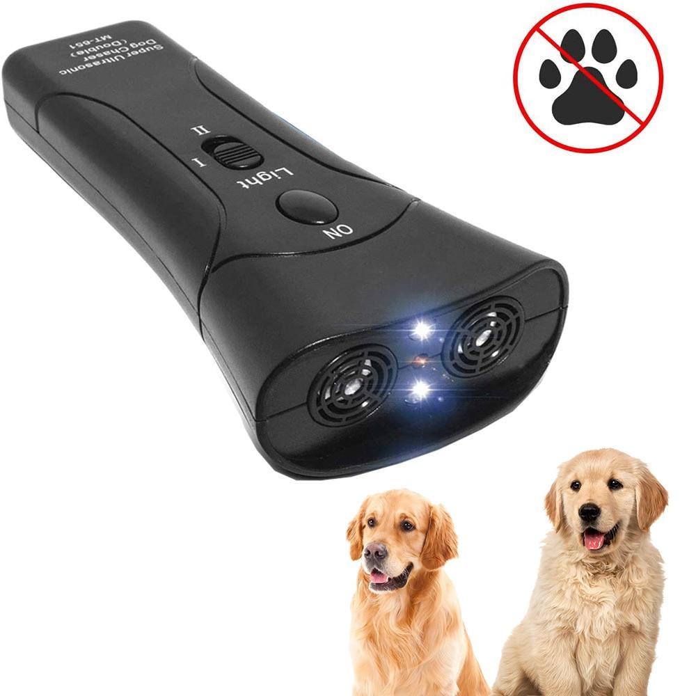 Pet Dog Repeller Anti Barking Stop Bark Training Device Trainer LED Ultrasonic Anti Barking Ultrasonic Without Battery-0