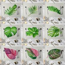 42x32cm Monstera Leaf Heat Insulated Pad Kitchen Dining Table Mat Placemat Decor