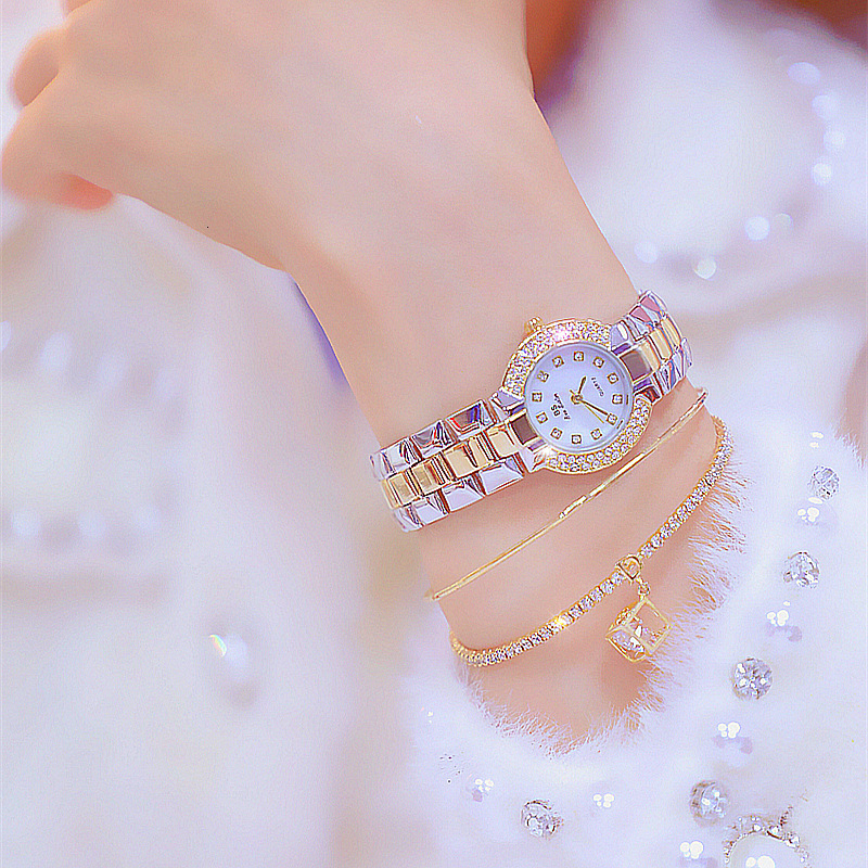 Top Brand Women Small Dial Wristwatch Ladies Diamond Quartz Watch Crystal Female Wristwatch zegarek horloges vrouwen Gift(China)