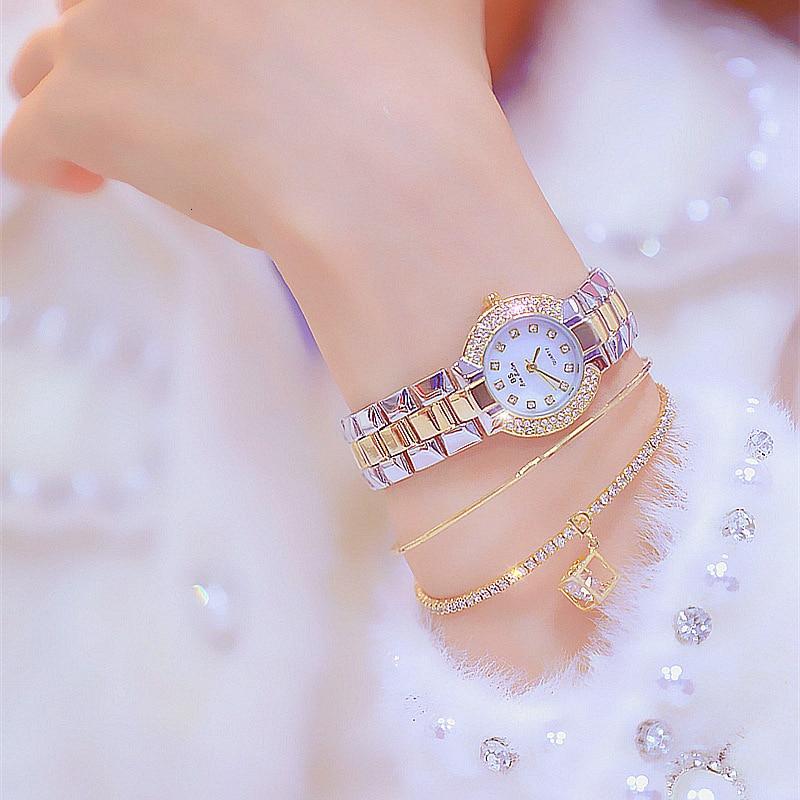 Top Brand Women Small Dial Wristwatch Ladies Diamond Quartz Watch Crystal Female Wristwatch zegarek horloges vrouwen Gift