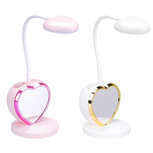 Desk-Lamp Pen-Holder Dimmable Usb-Charging-Port Rechargeable LED for Girls with