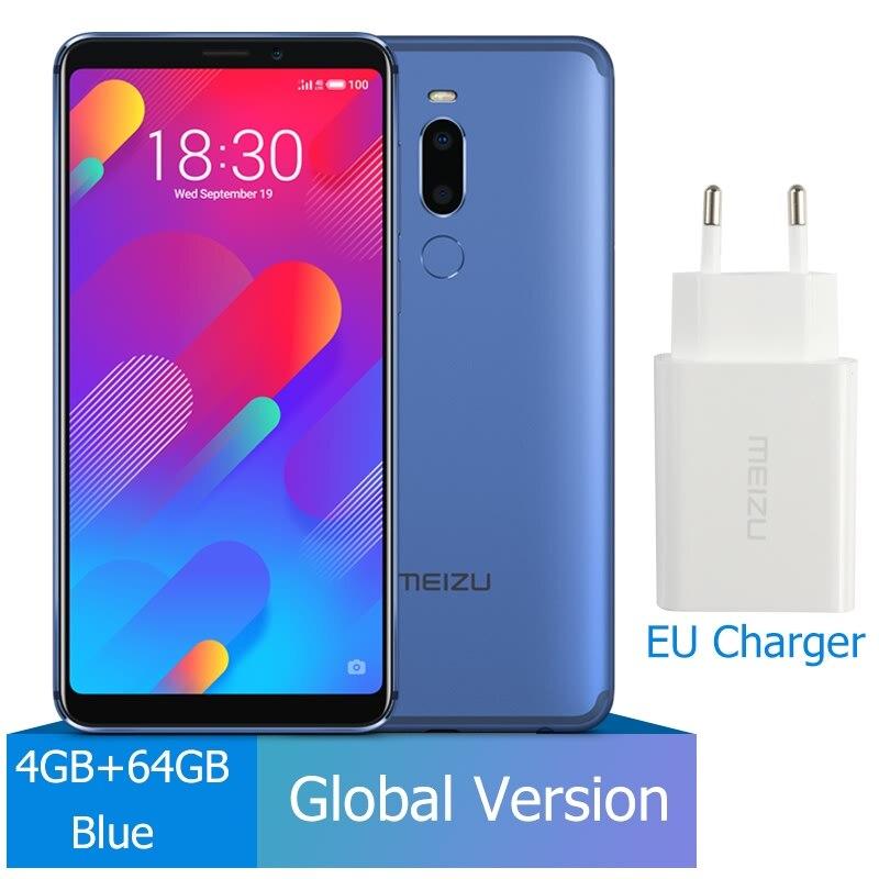 M8 4 Гб 64 Гб глобальная версия V8 смартфон Helio P22 Восьмиядерный экран 5,7 ''двойная задняя камера 3100 мАч отпечаток пальца - Цвет: 4GB 64GB Blue