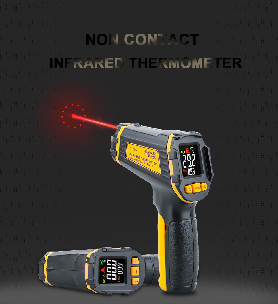 Non Contact Infrared Thermometer Gun to Measure Surface Temperature of Hazardous Object 6