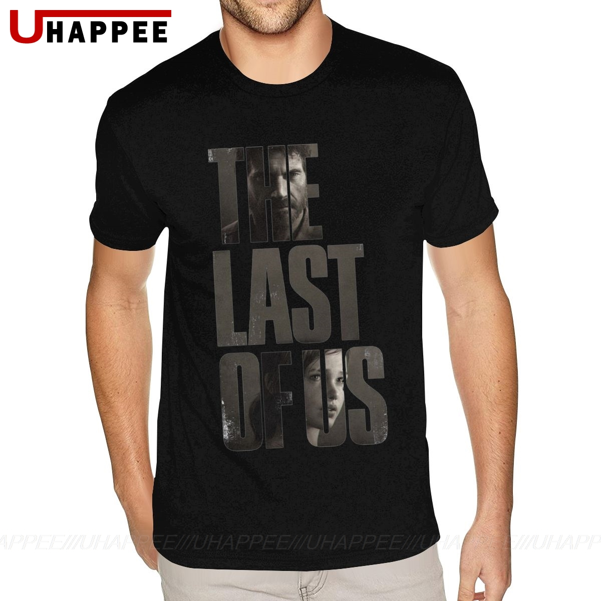 <font><b>The</b></font> <font><b>Last</b></font> <font><b>Of</b></font> <font><b>Us</b></font> Tee <font><b>Shirt</b></font> Couple Distressed T-<font><b>Shirt</b></font> Homme Short Sleeve Discount Branded Clothing image