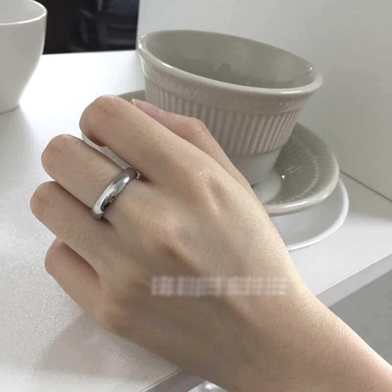 YANHUI קלאסי פשוט 18K זהב צבע טבעות זוג נשים גברים חתונה טבעות למאהב של חג המולד מתנת תכשיטי אירוסין טבעת R05