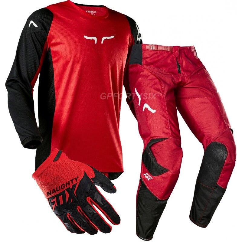 360 Kila DH vtt Moto équipement de course saleté vélo cyclisme maillot MX pantalon gants équitation ensembles Motocross costumes Moto Combos vêtements - 5
