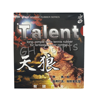 Bomb Talent Tension Economical Long Pips-Out Table Tennis Rubber With Sponge 0.5-1.5mm H40-45