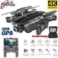 S167 5G Drone GPS RC Quadcopter con telecamera 4K WIFI FPV pieghevole Off-Point gesto volante foto Video elicottero giocattolo