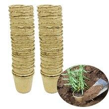 20 шт садовые растения кассеты для рассады биоразлагаемая бумага целлюлоза торф биоразлагаемые рассады поднятие чашки 8x8 см Садоводство высадка горшки