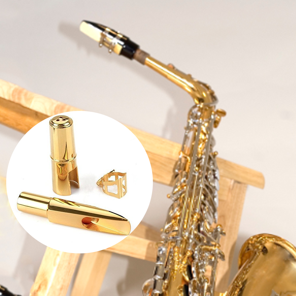 Replacement Portable Professional Nozzle Instrument Durable Gold For Alto Saxophone Accessories Metal Mini Mouthpiece Lacquer
