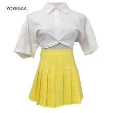 Fashion Women Skirts Summer Pleated Skirt High Waist A-Line Female Plaid Mini Skirts Preppy Style Chic Ladies Girls Dance Skirt