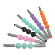 Hedgehog Muscle Massage Roller Yoga Stick Body Massage Relax Tool Muscle Roller Sticks Point Spiky Ball купить недорого в Москве